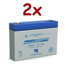Power-Sonic PS-1228   Rechargeable SLA Battery 12v 2.8ah (Qty of 2)
