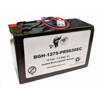 12v 7.5Ah Rechargeable Sealed Lead Acid (Rechargeable SLA) High Rate Battery | BGH-1275-PR9030EC