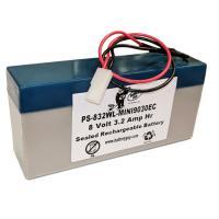 Power-Sonic PS-832WL-MINI9030EC | Rechargeable SLA Battery 8v 3.2AH