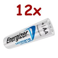 L91 x 12 Ultimate Lithium AA Battery 1.5v (One per zip bag)