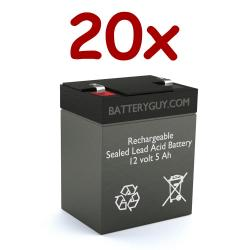 12v 5Ah Rechargeable Sealed Lead Acid (Rechargeable SLA) Battery | BG-1250F1 (Qty of 20)