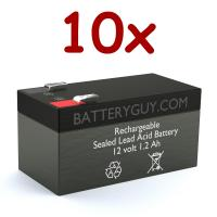 12v 1.2Ah Rechargeable Sealed Lead Acid Battery | BG-1212F1 (Qty of 10)