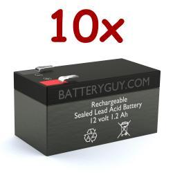 12v 1.2Ah Rechargeable Sealed Lead Acid Battery | BG-1212F1 (Qty of 10)