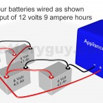 4 ampere hour batteries connected in series and parallel
