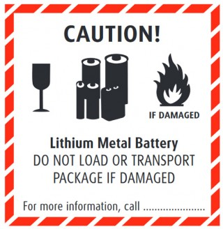 graphic relating to Printable Lithium Ion Battery Label named Well-known battery delivery labels  Practical experience Foundation