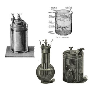 Battery designs in the first part of the 1800s