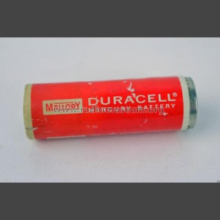 An early Duracell battery with the mallory brand