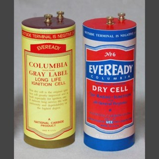 Early Eveready batteries