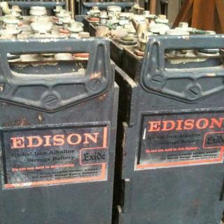 Edison nickel iron batteries
