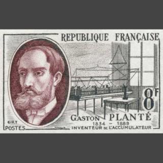 Gaston Plante postage stamp