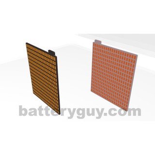 Lead acid battery grid plates with paste