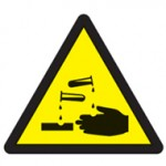 Acid warning triangle